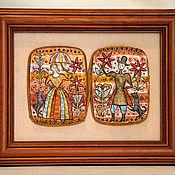 Картины и панно ручной работы. Ярмарка Мастеров - ручная работа Кавалер и дама. Handmade.