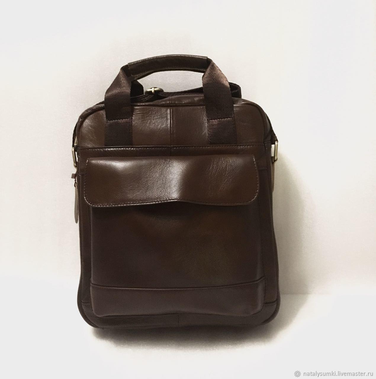 af591807 Мужские сумки ручной работы. Ярмарка Мастеров - ручная работа. Купить  Мужская сумка кожаная коричневая ...