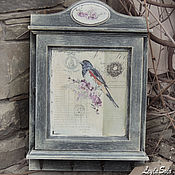 Для дома и интерьера ручной работы. Ярмарка Мастеров - ручная работа ключница птичка в провансе. Handmade.