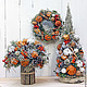 Новый год 2017 ручной работы. Заказать Рождественская композиция. Cadeaux de Noёl. Ярмарка Мастеров. Зимняя композиция, рождество