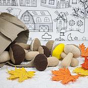 Куклы и игрушки ручной работы. Ярмарка Мастеров - ручная работа Грибы для игры.. Handmade.