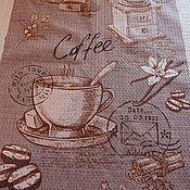 Для дома и интерьера ручной работы. Ярмарка Мастеров - ручная работа Набор  кухонных полотенец Кофе. Handmade.