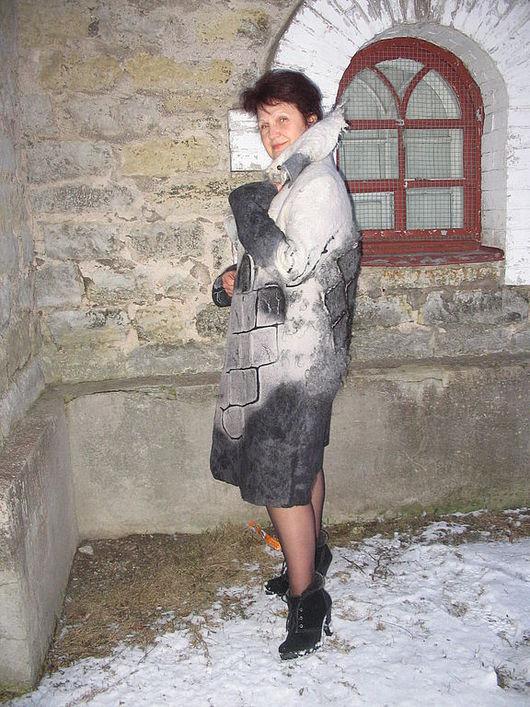 """Верхняя одежда ручной работы. Ярмарка Мастеров - ручная работа. Купить Пальто """"Снежность"""". Handmade. Валяное пальто, кудри шерстяные"""
