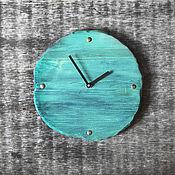 Для дома и интерьера ручной работы. Ярмарка Мастеров - ручная работа Часы из дерева изумрудные. Handmade.
