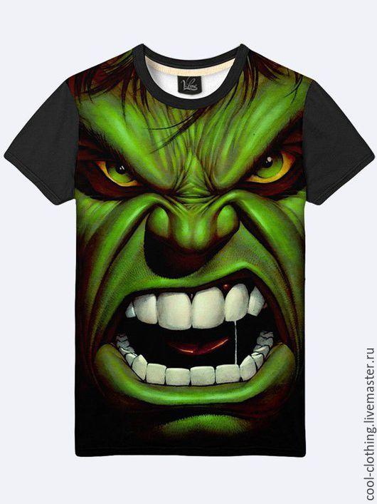 """Футболки, майки ручной работы. Ярмарка Мастеров - ручная работа. Купить Мужская футболка """"Халк"""". Handmade. Рисунок, футболка"""