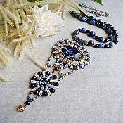 Украшения handmade. Livemaster - original item The Cosmic Nebula Pendant. Pendant with sodalite natural stones. Handmade.