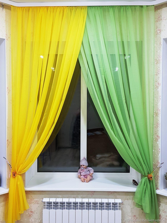 Фото разноцветные тюли на окне