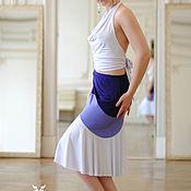 Одежда ручной работы. Ярмарка Мастеров - ручная работа Юбка  миди 3 яруса. Handmade.