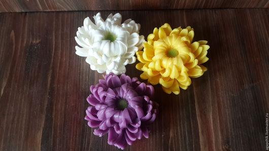 """Мыло ручной работы. Ярмарка Мастеров - ручная работа. Купить Мыло """"Хризантема"""". Handmade. Мыльные цветы, цветы из мыла"""