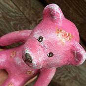 Куклы и игрушки ручной работы. Ярмарка Мастеров - ручная работа Мишка Розочка из папье-маше. Handmade.