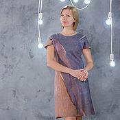 Dresses handmade. Livemaster - original item Dress felted Fog. Handmade.