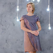Одежда handmade. Livemaster - original item Dress felted Fog. Handmade.