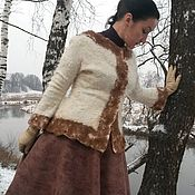 Одежда handmade. Livemaster - original item Copyright felted skirt