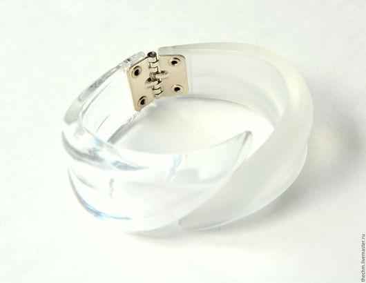 """Винтажные украшения. Ярмарка Мастеров - ручная работа. Купить Винтажный браслет """" Люцит"""". Handmade. Белый, винтажный браслет сша"""