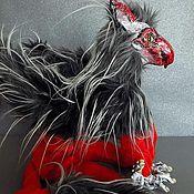 Куклы и игрушки ручной работы. Ярмарка Мастеров - ручная работа Грифон, фэнтези создание, мифологическое существо, подвижная игрушка. Handmade.