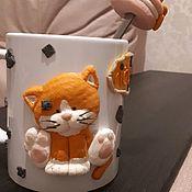 Кружки ручной работы. Ярмарка Мастеров - ручная работа Кружка с рыжим котиком. Handmade.