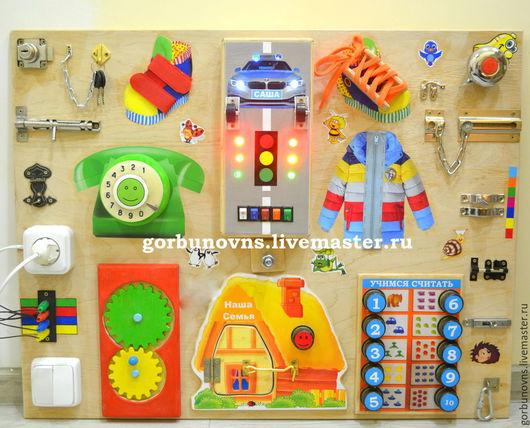 """Развивающие игрушки ручной работы. Ярмарка Мастеров - ручная работа. Купить Бизиборд  Развивающий Модуль Доска  """"Сказочная Поляна"""". Handmade."""