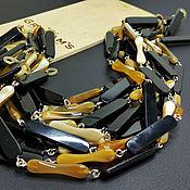 Материалы для творчества handmade. Livemaster - original item Water Buffalo Horn Chain/Zebu 40cm fiery black. Handmade.
