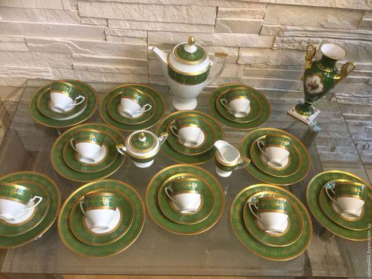 Винтажная посуда. Ярмарка Мастеров - ручная работа. Купить Сервиз чайный Фарфор Германия. Handmade. Зеленый, Чайный сервиз
