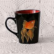 Посуда handmade. Livemaster - original item Ceramic mug with painted