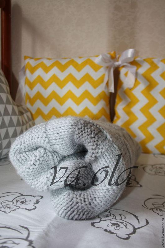 Текстиль, ковры ручной работы. Ярмарка Мастеров - ручная работа. Купить Плед вязанный. Handmade. Плед для новорожденного, в коляску, пряжа