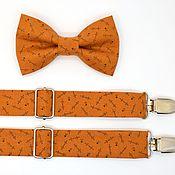 Аксессуары handmade. Livemaster - original item Set bow tie and suspenders pumpkin. Handmade.