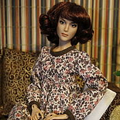 Куклы и игрушки ручной работы. Ярмарка Мастеров - ручная работа Платье для куклы Ольги Рейнгард. Handmade.