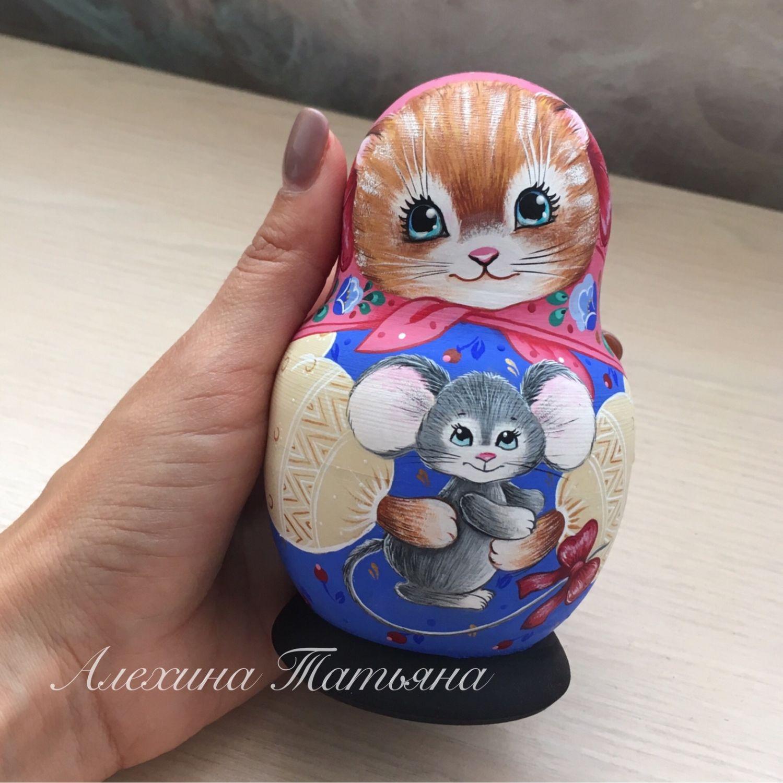 Матрешка «Кошки-мышки» 5 мест, Матрешки, Сергиев Посад, Фото №1