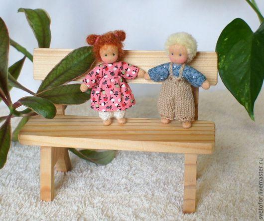 Вальдорфская игрушка ручной работы. Ярмарка Мастеров - ручная работа. Купить Игровые куколки 6.5 см. Handmade. шерсть