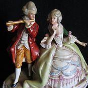 Пара кавалер с дамой фарфор музыканты GDR 1