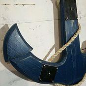 Картины и панно ручной работы. Ярмарка Мастеров - ручная работа Якорь деревянный. Handmade.