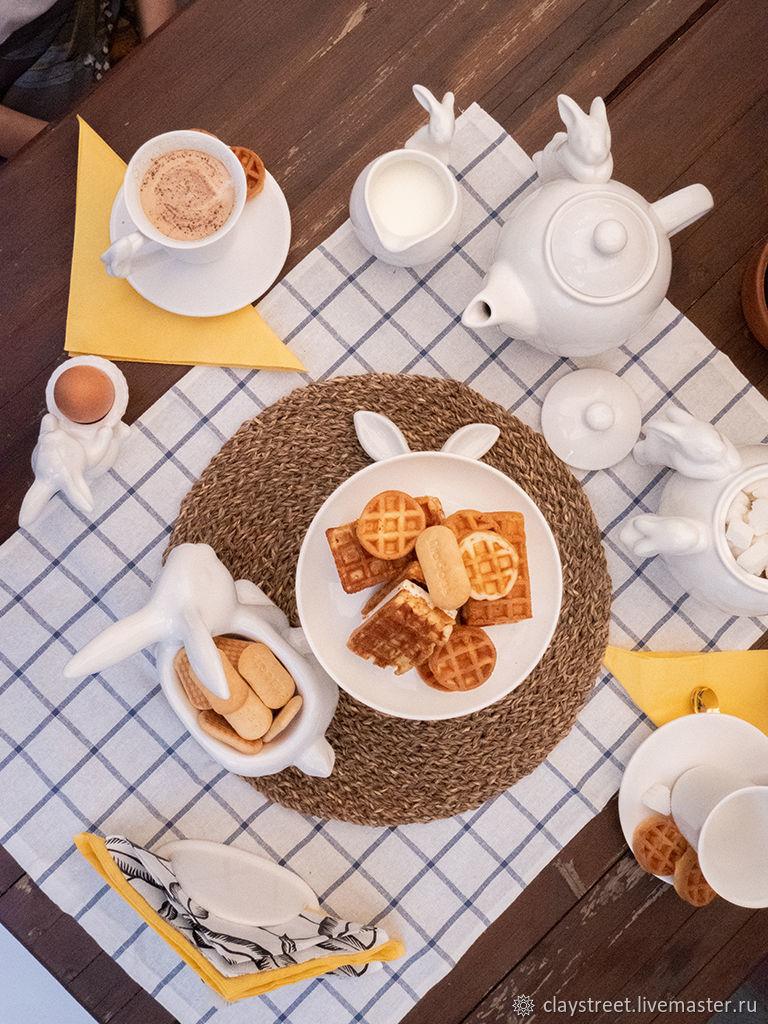 Декоративная посуда ручной работы. Ярмарка Мастеров - ручная работа. Купить Набор в сундуке 'Летний завтрак'. Handmade. Набор посуды