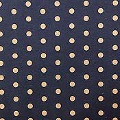 Материалы для творчества ручной работы. Ярмарка Мастеров - ручная работа ВР. НЕТ!Бумага крафт синяя в горошек. Handmade.