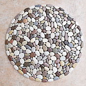 Для дома и интерьера handmade. Livemaster - original item The Mat of sea pebbles multicolor. Handmade.