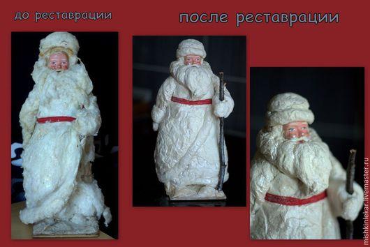 Сказочные персонажи ручной работы. Ярмарка Мастеров - ручная работа. Купить реставрация игрушки Дед Мороз ватный. Handmade. Белый