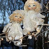 Куклы и игрушки ручной работы. Ярмарка Мастеров - ручная работа Белые Ангелы Рождества.. Handmade.