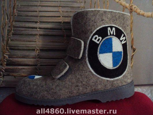 Обувь ручной работы. Ярмарка Мастеров - ручная работа. Купить Мужские войлочные сапожки BMW. Handmade. Зимняя обувь