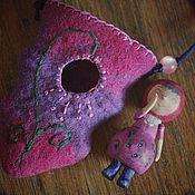 Куклы и игрушки ручной работы. Ярмарка Мастеров - ручная работа Деревянная куколка.  Гномушка в домике. Handmade.