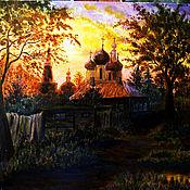 Картины и панно ручной работы. Ярмарка Мастеров - ручная работа Вечер в Серпухове. Handmade.