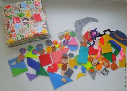 Развивающие игрушки ручной работы. Ярмарка Мастеров - ручная работа. Купить Развивающая книжка. Handmade. Разноцветный, геометрические фигуры