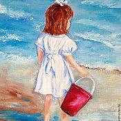 """Картины и панно ручной работы. Ярмарка Мастеров - ручная работа Картина маслом  """" Голубая Адель"""". Handmade."""