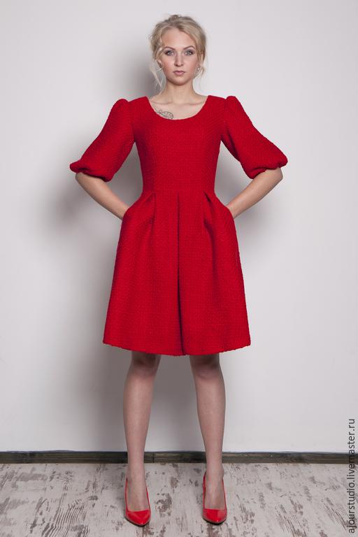 Платья ручной работы. Ярмарка Мастеров - ручная работа. Купить платье Восторг. Handmade. Разноцветный, платье, красное платье