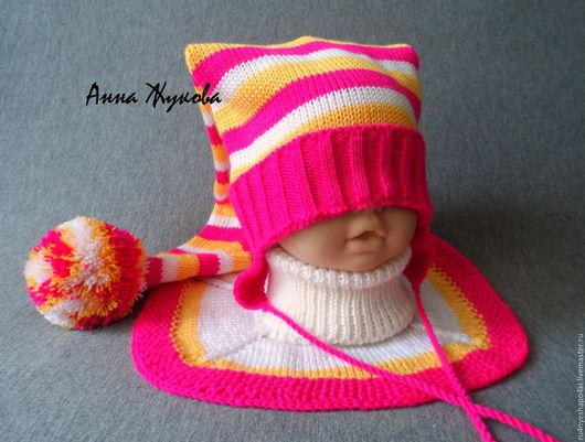 Шапки и шарфы ручной работы. Ярмарка Мастеров - ручная работа. Купить Шапка Колпак. Handmade. Комбинированный, шапка для мальчика, полушерсть