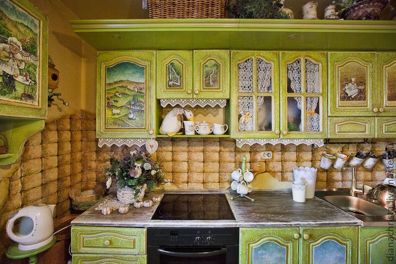 Декупаж кухонного гарнитура своими руками фото