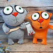 Куклы и игрушки handmade. Livemaster - original item He first started! Soft toys cats by Vasya Lozhkin. Handmade.