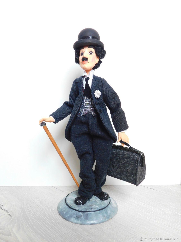 Портретные куклы ручной работы. Ярмарка Мастеров - ручная работа. Купить ЧАПЛИН авторская коллекционная кукла. Handmade. Чарли Чаплин