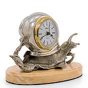 Часы классические ручной работы. Ярмарка Мастеров - ручная работа Улитка (серебрение). Handmade.