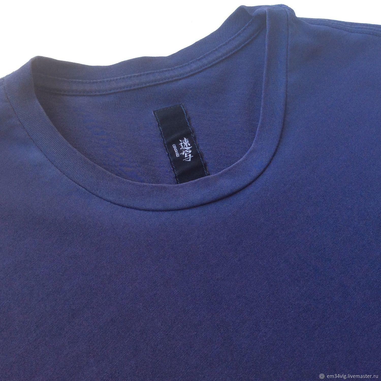 Винтаж: Темно-синяя футболка с винтажным эффектом, Одежда винтажная, Волгоград,  Фото №1