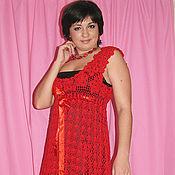 """Одежда ручной работы. Ярмарка Мастеров - ручная работа платье """"красное, второе :) """". Handmade."""