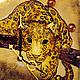 Часы для дома ручной работы. Часы настенные стеклянные с росписью Леопард на ветке. Элеонора Саунина (Ella-handmade). Интернет-магазин Ярмарка Мастеров.